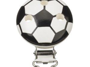Schnulli Clip Fußball Weiß-schwarz