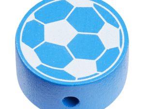 Scheibe Holz Fußball blau-weiß